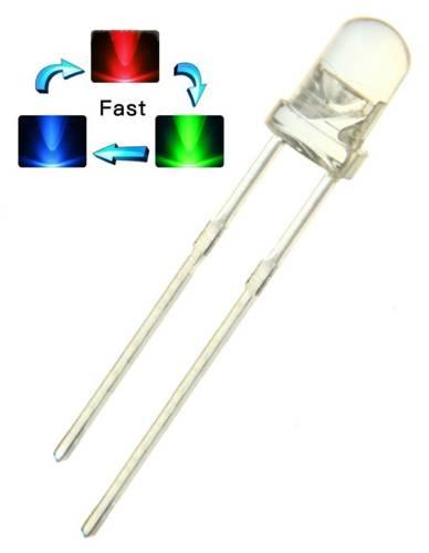 LED RGB multicolor 5mm měnící barvy - Fast