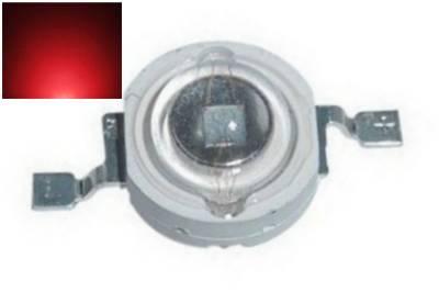 LED dioda 3W červená 45lm/620nm/180°