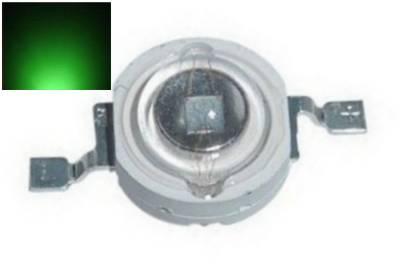 LED dioda 3W zelená 90lm/520nm/180°