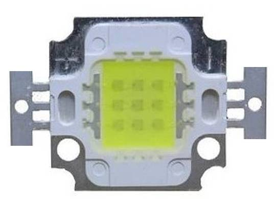 LED dioda 10W zelená 500lm/520nm/90°