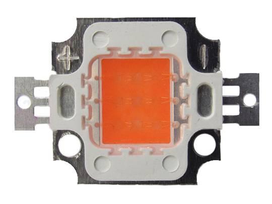 LED dioda 10W červená 300lm/625nm/90°
