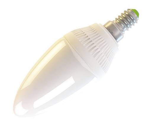 LED žárovka E14 4W/230V svíčka bílá teplá 320lm
