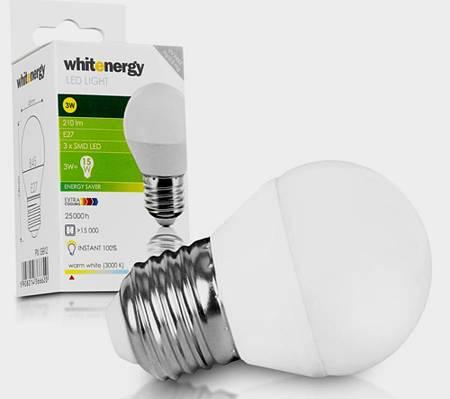 Žárovka LED 3W 220V bílá tep E27 200lm 160st. pr.45x74 3000K 25000h.