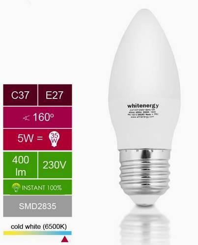 Žárovka 10xLED 5W 220V bílá st E27 400lm 160°