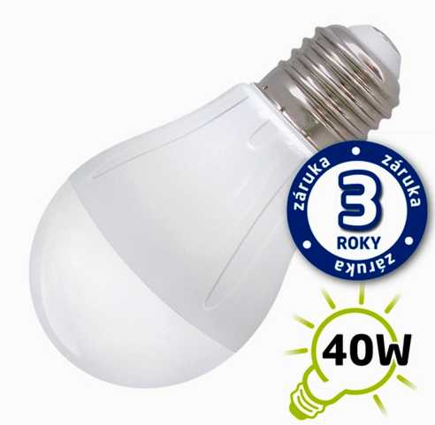 Žárovka LED 5W 220V bílá tep E27 400lm