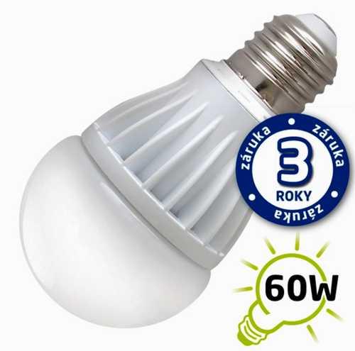 Žárovka LED 10W 220V bílá tep E27 800lm