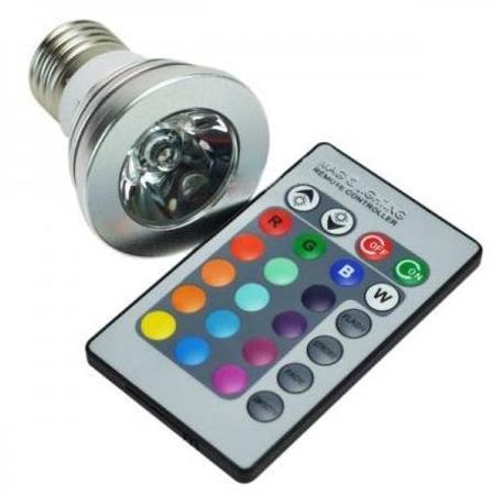 Žárovka RGB 3W 230V/E27 + dálkový ovládač