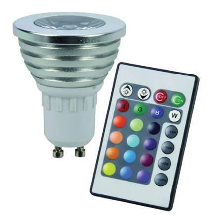 Žárovka RGB 3W 230V/GU10 + dálkový ovládač