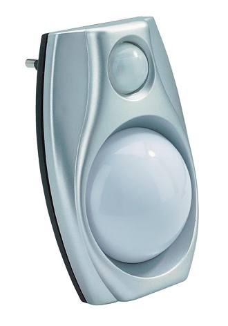 Noční LED lampička 0.6W/220V + čidlo pohybu 110x75x40