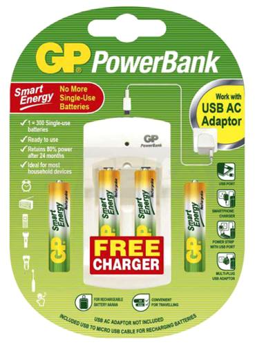GP USB nabíječka baterií PB310 +2xAA,2xAAA