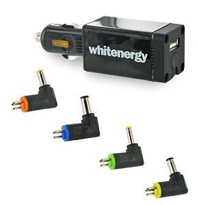 Zdroj netbooky 50W 15-24V/ do auta CL adaptér 4xredukce + USB 5V/1A 06072