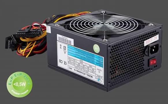 Zdroj PC 650W ATX aktivní PFC Eurocase 14cm vent.