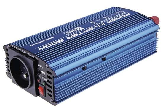 Měnič napětí 12V/230V, 600W