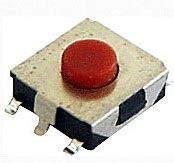Mikrospínač SMD 12V 50mA 6.5x6.1x2.5mm