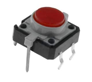 TACT-24N-F-IR Mikrospínač prosvětlený 12x12mm červený 12V/50mA