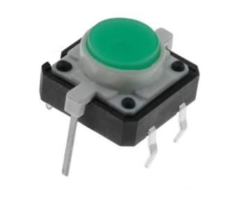 TACT-24N-F-IG Mikrospínač prosvětlený 12x12mm zelený 12V/50mA