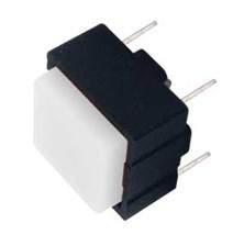 Mikrospínač hranatý OFF-(ON) 12.4mm 12V/10mA bílý
