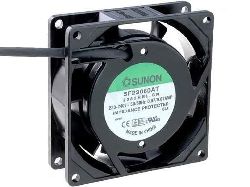 Ventilátor 80x80x25 220V/0.07A SF23080AT2082HB