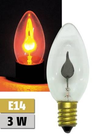 Žárovka (doutnavka) plamínek 230V 3W E14