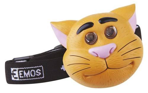 Svítilna - čelovka 2xLED, kočka