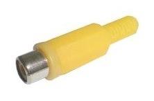 Cinch zásuvka kabel žlutá