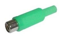 Cinch zásuvka kabel zelená