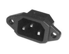 Konektor 220V 10A k PC panel KP03