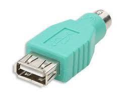 USB zás.TYP A - PS/2 kon