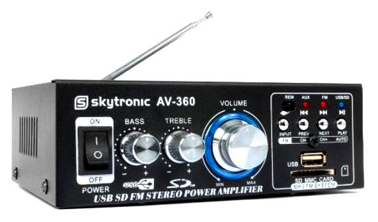 Zesilovač HiFi 2x40W FM /USB/SD SKYTEC