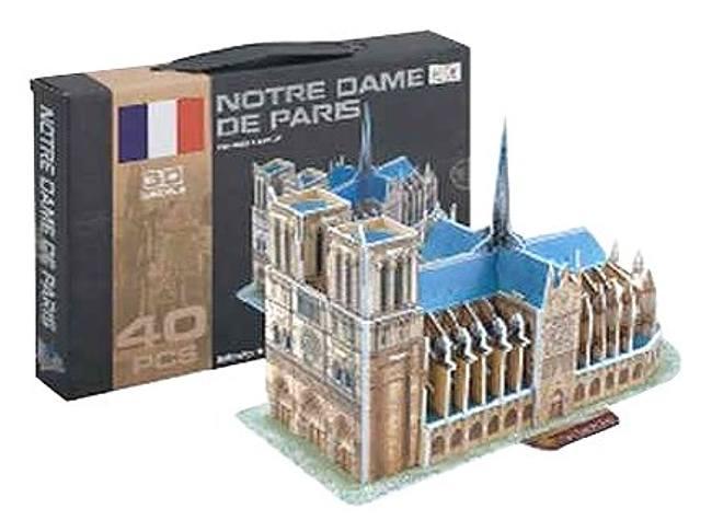 3D Puzzle skládačka Notre Dame 40-dílů