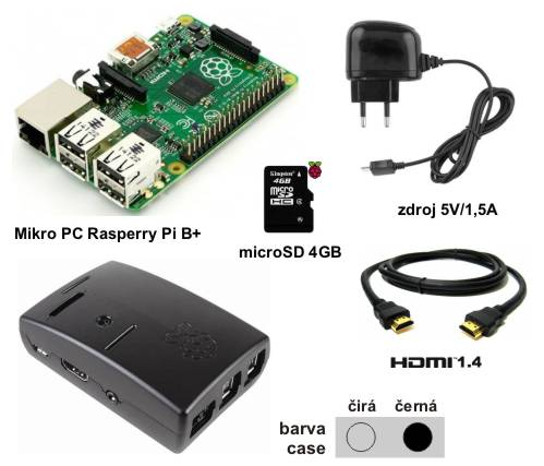 Raspberry Pi Model B+ 512MB - Starter Kit Mini