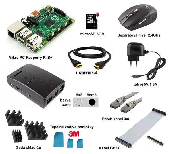 Raspberry Pi Model B+ 512MB - Starter Kit Basic