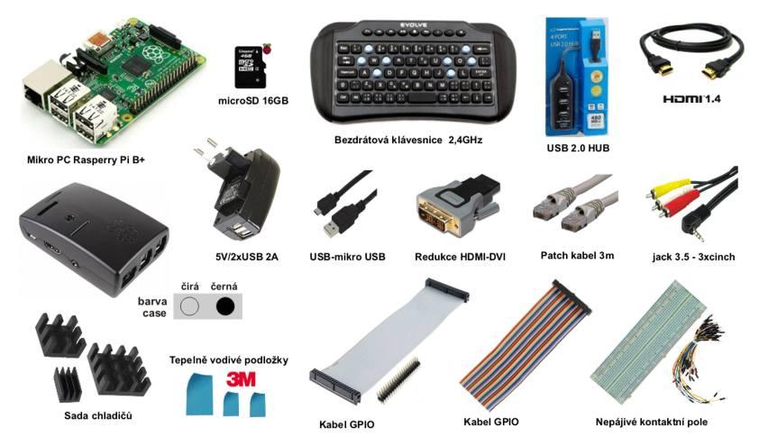 Raspberry Pi Model B+ 512MB - Starter Kit Profi