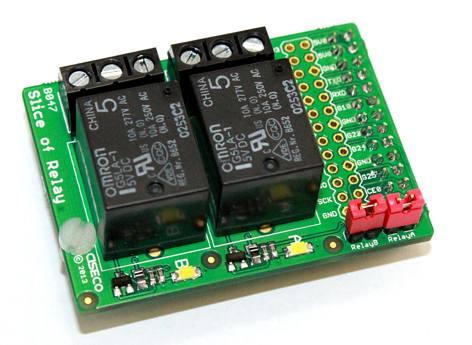 Přídavný modul pro Raspberry Pi 2xrelé 5V/10A