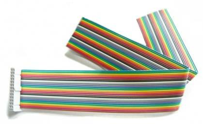 Kabel GPIO pro Raspberry B - 1xzásuvka (26pin) 50cm barevný