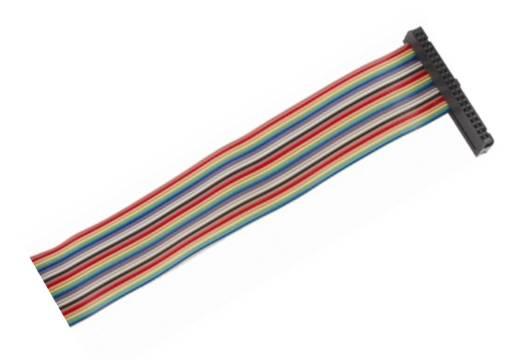 Kabel GPIO pro Raspberry B+ - 1xzásuvka (40pin) 20cm 26.žil barevný