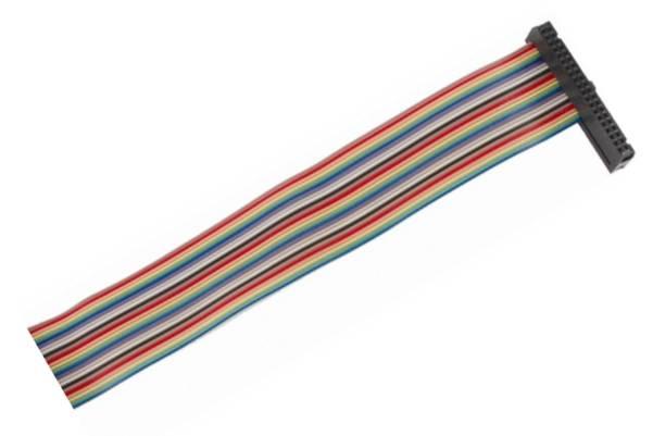 Kabel GPIO pro Raspberry B+ - 1xzásuvka (40pin) 50cm 26.žil barevný