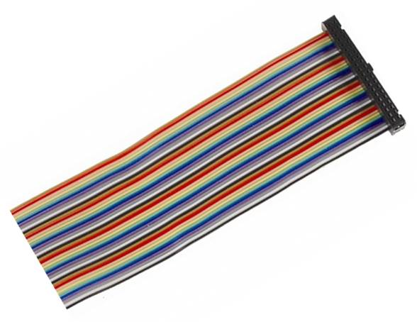 Kabel GPIO pro Raspberry B+ - 1xzásuvka (40pin) 20cm 40.žil barevný