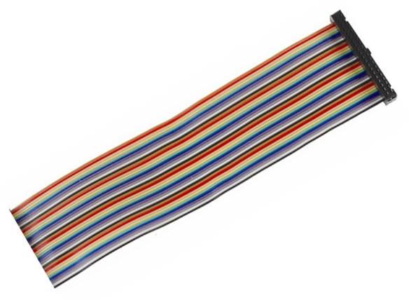 Kabel GPIO pro Raspberry B+ - 1xzásuvka (40pin) 50cm 40.žil barevný