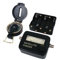 Sada pro vyhledávání sat.signálu Finder ručičkový měřák+kompas
