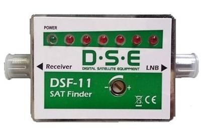 Satelitní vyhledávač SAT Finder DSF-11 LED+zvuková indikace signálem