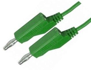 Propojovací kabely s banánkem 1.5mm2 délka 1m zelený