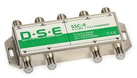 "TV/SAT slučovač SSC-4 (1T+4S) out.(4xT+S výstup) LNB QUAD+TV ""F"" 1.5dB"