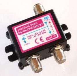 """I034-PF TV rozbočovač 2x hybridní F"""""""