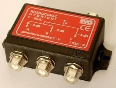 """I028-PF TV rozbočovač 3x hybridní F"""""""