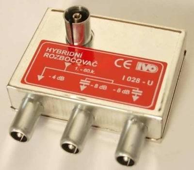 I028-U TV rozbočovač 3x hybridní
