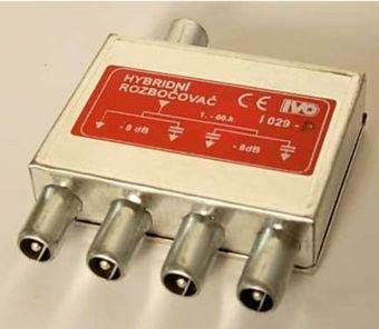 I029-P TV rozbočovač 4x hybridní I