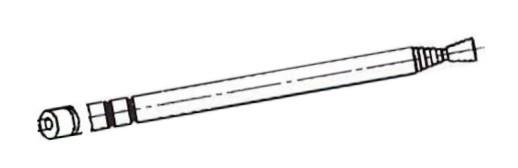Anténa prutová závit 8/30cm pr.7mm