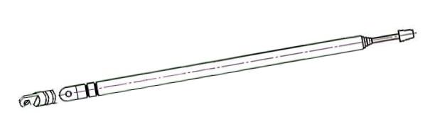 Anténa prutová 15/63.5cm pr.6mm