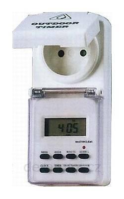 Spínací hodiny týdenní digitální IP-44 ochr.proti střík.vodě venkovní